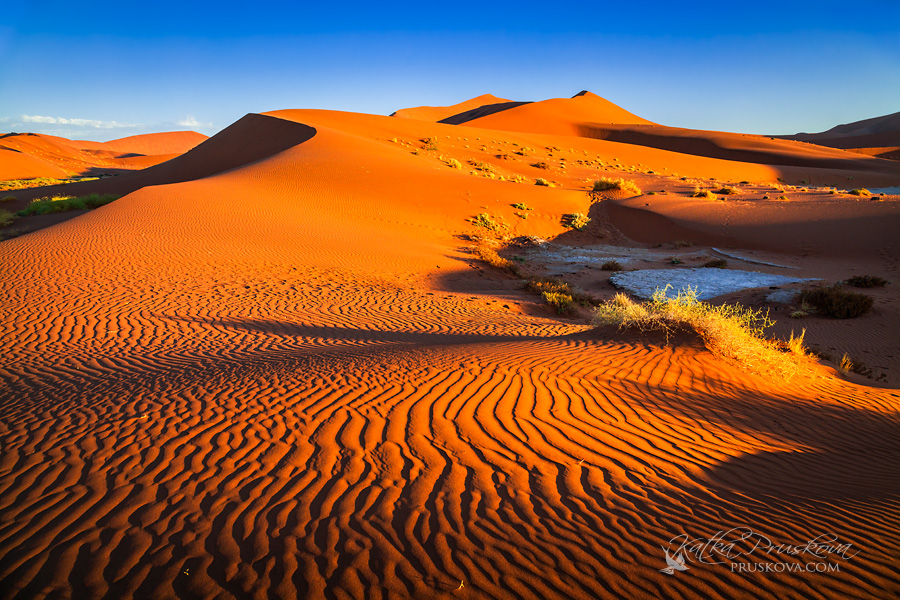 Orange Sand Dunes Namibia